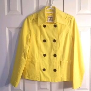 Old Navy yellow spring jacket, size small